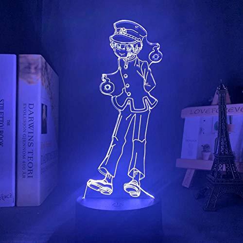 3D noche luz anime inodoro encuadernado Hanako kun LED noche luz Hanako kun figura modelo 3D lámpara dormitorio decoración anime amantes regalos de cumpleaños zglq