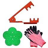 Magiin 1 Set Removedor de Espinas y Hojas para Rosa Herramientas Profesionales de Jardinería Floristería 2 Separadores de Espina de Hoja de Rosa 1 Par de Guantes