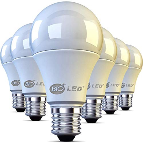 Bioled E27 LED Lampe, 9W, 6er Pack, Warmweiß 3000K, 806Lm, Ersetzt 100W Glühlampe, LED Birne, E27 LED Leuchtmittel,E27 LED Licht, E27 LED Beleuchtung