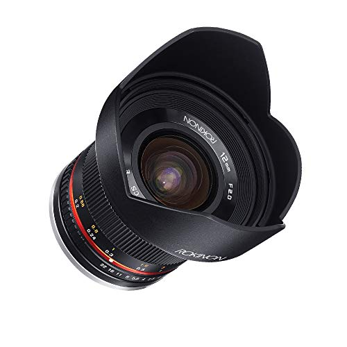 Rokinon 12mm F2.0 NCS CS Ultra Wide Angle Fixed Lens for Olympus and Panasonic Micro 4/3 (MFT) Mount Digital Cameras...
