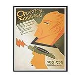 IUYTRF Star Trex creado por Gene Roddenberry Operation Art Painting Vintage Retro Kraft Canvas -50X70 cm Sin marco 1 Uds