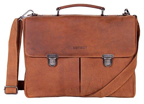 Echt leer - Wall Street - aktetas laptop 15,4