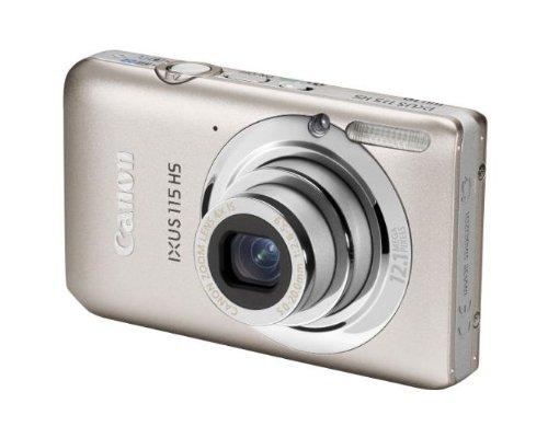 Canon IXUS 115 HS Digitalkamera (12 MP, 4-fach opt. Zoom, 7,6cm (3 Zoll) Display, Full HD, bildstabilisiert) silber