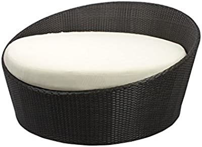 Source Furniture Round Moon Daybed, Espresso