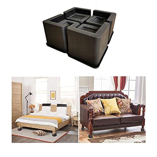 IDORY Furniture - Rialzi per letto da 7,8 cm, resistenti, antiscivolo, per proteggere il pavimento quadrato e il mobile, per bancone poltrone, scrivania, divano, letto a castello, tavolino da caffè