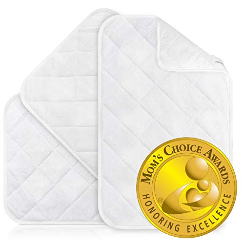 iLuvBamboo Waterproof Changing Pad Liners (Mom's Choice Gold Award Winner) 3 Pack Thicker, Longer & Wider Changing Table Cover -Portable,Reusable & Washable Diaper Change Mat for Baby Gifts & Showers