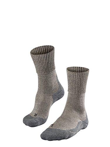 FALKE Damen, Wandersocken TK1 Wool Merinowollmischung, 1 er Pack, Beige (Kitt Mouline 4310), Größe: 39-40