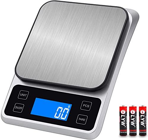 はかり デジタル キッチンスケール 0.1g単位 5kg デジタルスケール 計量器 料理はかり 風袋引き機能 計り 電子はかり LCDディスプレイ オートパワーオフ機能 コンパクト 多用途 単4形乾電池付属(0.5g〜5kg)