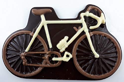 05#011521 Schokolade Fahrrad ZARTBITTER, als Schokoladenplatte, Tortenverzierung, Schokolade, Torte