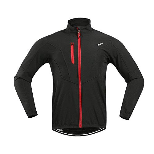 D. estilo hombre bicicleta chaqueta manga larga chaqueta cortavientos MTB Forro Polar S–2x l, otoño/invierno, Hombre, color rojo/negro, tamaño large