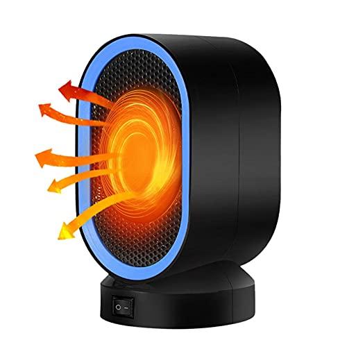 ZHKGANG 400w Calentador De Aire Eléctrico Mini Calentador De Hogar Portátil De Calentamiento Rápido Ventilador Caliente De Escritorio para El Invierno Hogar Baño,Blue