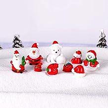 Meigold Figurine de No/ël Figurine P/ère No/ël Mini D/écoration de salon Chambre Voiture Petit D/écoration de No/ël Cadeau de No/ël