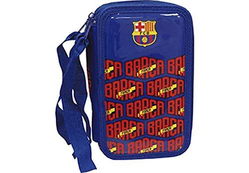 CYP- Plumier 3 Pisos con Material Escolar FC Barcelona Accesorios, Multicolor (EP-313-BC)