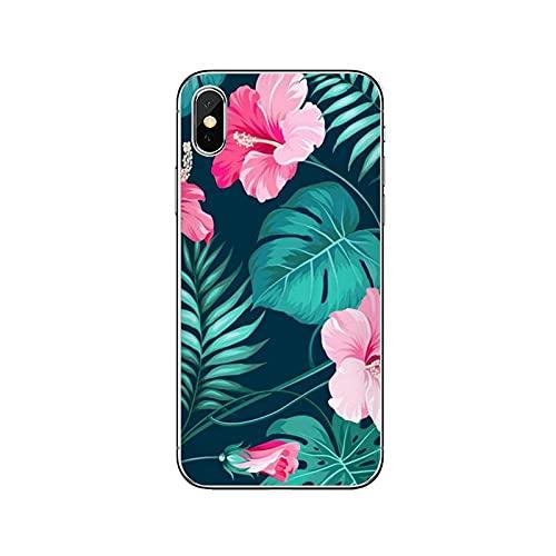 Funda de silicona para Huawei P20 P30 P40 Pro P10 P9 Lite Y5 Y6 Y7 Y9 P Smart Plus 2018 2019-Rosa-Flor-F-09-Para Huawei P10
