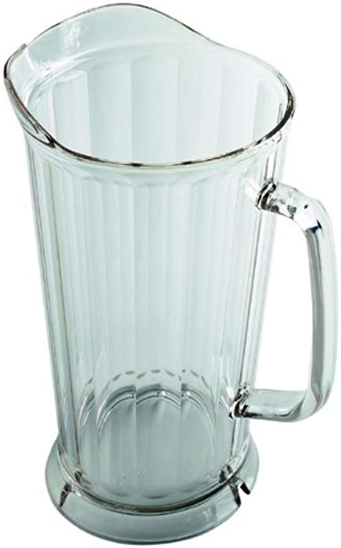 Cambro P64CW135 Clear Poly Camwear Pitcher 64 Ounce Case Of 6