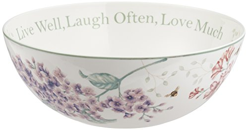 Lenox Butterfly Meadow 'Live Well, Laugh Often, Love Much' Serving Bowl, White - 811432