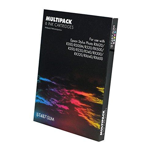 4 x Epson Compatible T0611, T0612, T0613, T0614 cartuchos (elegir cualquier mezcla de 4 colores - negro, cian, Magenta, amarillo) Stylus D68 Stylus D88 Stylus DX3800 Stylus DX3850 Stylus DX4200 Stylus DX4250 Stylus DX4800 Stylus DX4850