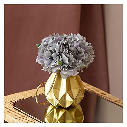 DIWA Ramo de Flores Artificiales con jarrón, Mini Seda Fake Flowe Flower Decoration, Planta de plástico en Maceta (Color : G)