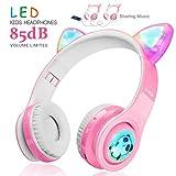 WOICE Kinder Funkkopfhörer, LED-Blinklichter, Musik-Sharing-Funktion, Stereo Sound,...
