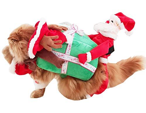 Glamour Girlz - Disfraz Divertido de Papá Noel para Perros