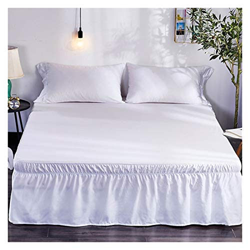 HNTKSM Bed Skirt Bed Base Cover Wrap Around Hotel Queen-Size-Bett-Rock-Weiß-Bett-Hemd ohne Oberflächen Elastic Band Single Queen König Easy On/Easy Off-Bett-Rock (Size : 180x200x40)
