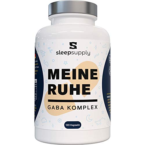 SLEEPSUPPLY® Mijn Ruhe - 1000 mg GABA met Baldrian vegan & natuurlijk - alternatief slaaptabletten - 120 capsules