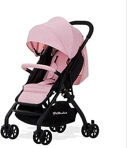 HXYL Babywagen, tragbare Falten, Einstellbarer Neigungswinkel, mit Markise atmungsaktiv