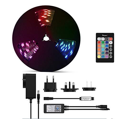SONOFF L1 5M LED RGB Dimmbare intelligente Lichtleiste, per App fernbedienbare WLAN-Streifenleuchten, 5m, 5050, wasserdicht nach IP65, funktioniert mit Amazon Alexa