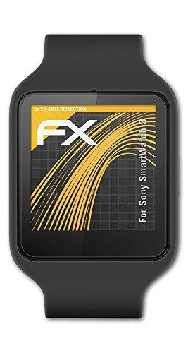 atFoliX Película Protectora Compatible con Sony SmartWatch 3 Lámina Protectora de Pantalla, antirreflejos y amortiguadores FX Protector Película (3X)