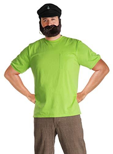 Maskworld Efraim Langstrumpf - Vater von Pippi - Piraten-Kapitän - Kostüm für Erwachsene mit Hemd, Mütze, Bart & Ohrring - Größe L - Verkleidung für Karneval, Fasching & Motto-Party
