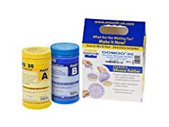 MIX RATIO: 1A:1B BY VOLUME - Easy to use silicone rubber compound features a convenient one-to-one by volume mix ratio, no scale is necessary *Packaging may vary* SHORE A HARDNESS: 30 - This scale measures the hardness of flexible rubber molds. A 30A...