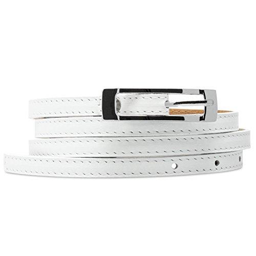 Caspar GU296 Donna Cintura Sottile, Colore:bianco, Dimensioni:80 [circonferenze da 76 a 83 cm]