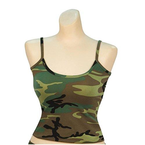 Rothco Women's Casual Tank Top, Woodland Camo, Medium