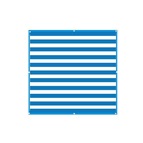 AZXAZ Sonnenschutztuch Gartenterrasse Kunststoff Quadrat Sonnencreme Baldachin DIY Strand Sonnenschutz Zubehör Ohne Seil 2m * 2m (Blau und Weiß)