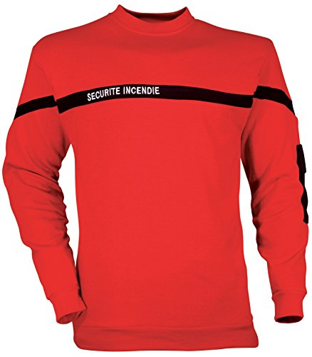 Sweat Shirt Sécurité Incendie - CityGuard - Rouge - 4XL