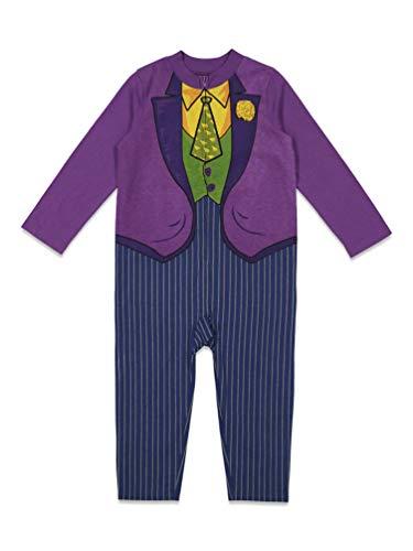 DC Comics Joker Batman Toddler Boys Halloween Costume Coverall Cosplay Suit 2T Purple
