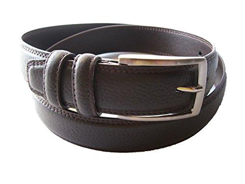 YOJAN PIEL - Cinturón cuero hombre Piel Ubrique (115) | Ajustable a su medida Cómodo y Elegante para Hombre | Ideal para Regalo y para Eventos Formales | Gran Acabado, Resistencia y Durabilidad