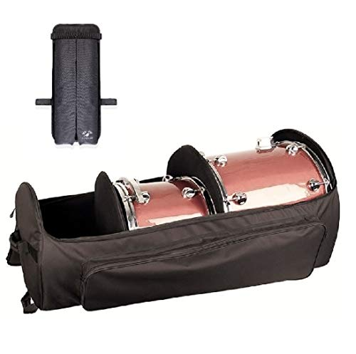 Kinekulle Drum Hardware Bag With Wheels - Heavy Duty Large Duffel With Padded Dividers, sturdy Grip handles and Exterior Storage Pockets - Complete with One Marching Drumstick Bag