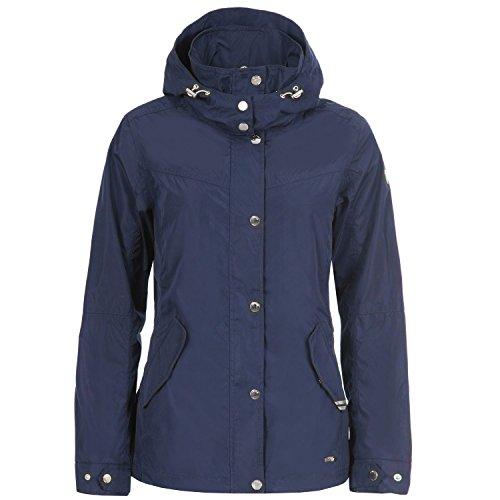 LUHTA Loviisa Dames Hardshell jas Windbreaker capuchon overgangsjas blauw nieuw