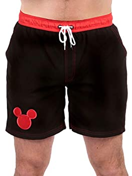 Disney Mens Mickey Mouse Swimming Trunks Size Large Black