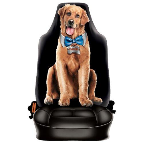 Auto Sitzbezug - Treuer Hund - Der beste Freund - lustiger Sitzbezug mit Fotodruck Motiv - ein Hingucker mit Humor für Ihr Auto