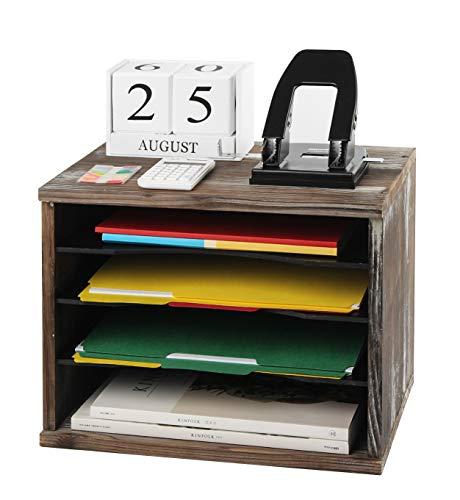 J Jackcube Design Rustic Wood Desk Organizer