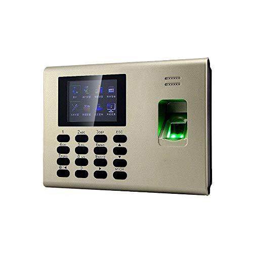 YEZIB Time-Uhren für den Fingerabdruckscanner, Fingerprint Zeiterfassung mit MF-IC-Karte und eingebaute Batterie Uhr (Language : English)
