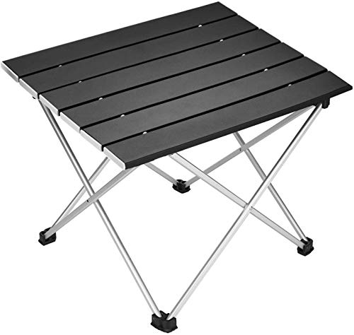 Portable Camping Table,Picknicktisch Aluminum Folding Table Ultralight Camp Table with Carry Bag Collapsible Table Top for Picnic,Cooking,Camping,Beach,Festival,Outdoor Camping Picknick BBQ (schwarz)