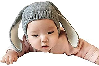 Way Be Live Baby Winter Warm Knit Hat Infant Toddler Kid Crochet Rabbit Ears Beanie Cap,Grey