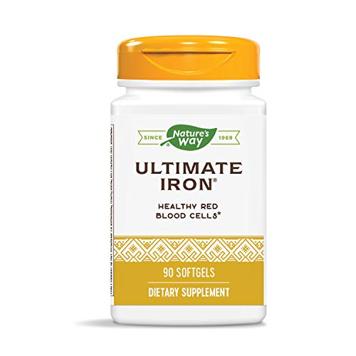 Nature's Way Ultimate Iron Maximum Absorption Synergistic Blend, 50 mg per serving, 90 Count (Packaging May Vary)