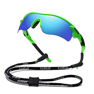 Bevi Polarized Sports Sunglasses for Men Women Baseball Running Cycling Golf Tr90 Durable and Ultralight Frame 2735C5