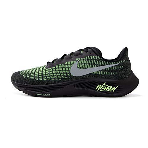 Nike Air Zoom Pegasus 37, Zapatillas para Correr Hombre, Black Reflect Silver Ghost Green, 43 EU