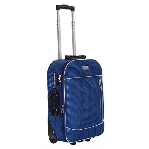 Slimbridge Rennes 55 cm valigia espandibile con 3 anni di garanzia, Blu