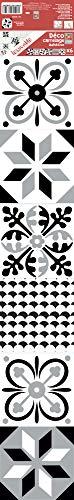 Lijmdecoratie voor tegels 268508 Teano, zwart en wit, 6 vellen, 15 x 15 cm